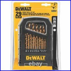 DEWALT DD4069 Cobalt Fractional Jobber Drill Set, 29 Piece