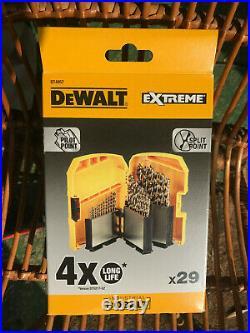 DEWALT DT4957-QZ Extreme 2 29pce Cobalt drill set 1-13mm Brand new in box
