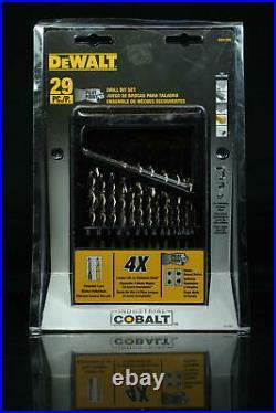 DEWALT Drill Bit Set, Pilot Point, Cobalt, 29-Piece (DWA1269)