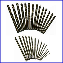 DRILL AMERICA DWD29J-CO-PC 1/16 1/2 Cobalt Jobber Drill Bit Set