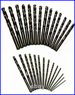 DWD29J-CO-PC 29 Piece M35 Cobalt Drill Bit Set in Round Case 1/16 1/2