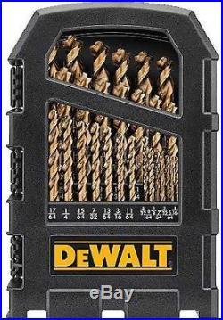 DeWALT Cobalt Pilot Point Drill Bit Set up to 1/2', DWA1269-Z, 29 Piece Set