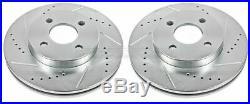 Disc Brake Rotor Set-Extreme Performance Drilled & Slotted Brake Rotor Front