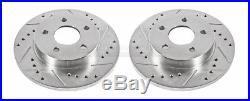 Disc Brake Rotor Set-Extreme Performance Drilled & Slotted Brake Rotor Rear