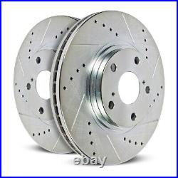 Disc Brake Rotor Set-Rear Drilled, Slotted and Zinc Plated Brake Rotor Pair Rear