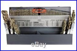 Dri o 500 115pc Cobalt Steel Heavy-Duty Jobber Drill Bit Set Bronze Finish Shank