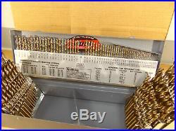 Drill America 115 Piece M35 (5%) Cobalt Drill Bit Set (1/16-1/2, A-Z, 1-#60)