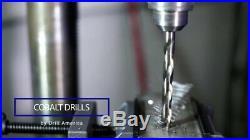 Drill America 115 Piece m35 Cobalt Drill Bit Set 1/16-1/2 A-Z 1-#60 DWDCO S