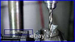 Drill America 25 Piece m42 Cobalt Drill Bit Set 1mm 13mm x. 5mm D/ACO Series