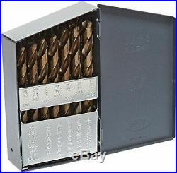Drill America 29 Piece M35 Cobalt Drill Bit Set 1/16 1/2 X 64ths with 3/8