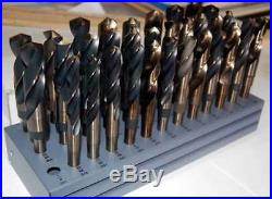 Drill America 33/64-1x64ths M42-8% Cobalt S & D Drill Set withHuot Stand