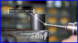 Drill America 33 Piece m35 Cobalt Reduced Shank Drill Bit Set 1/2 1 x 64ths