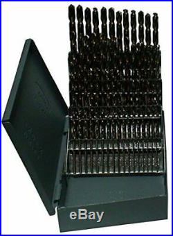 Drill America 60 Piece m42 Cobalt Drill Bit Set (Wire Sizes #1 #60), D/ACO Se