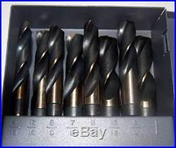 Drill America 9/16-1 x 16ths M42-8% Cobalt S & D Drill Set withHuot Index