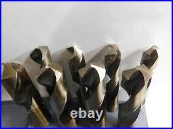 Drill America DWD1008-CO-SET Cobalt Reduced Shank Drill Bit Set in Metal Case