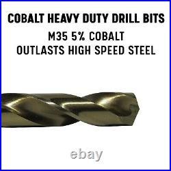 Drill America DWD29J-CO-PC 29 Piece M35 Cobalt Drill Bit Set in Round Case