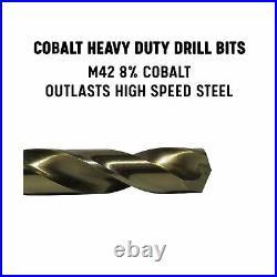 Drill America D/A29J-CO-PC 29 Piece M42 Cobalt Drill Bit Set in Round Case