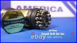 Drill America Dwd29J-Co-Pc 29 Piece M35 Cobalt Drill Bit Set In Round Case 1/