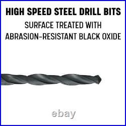 Drill America Twist Drill Bit Set 9/16 In Cobalt Reduced Shank Heavy Duty 5 Pcs