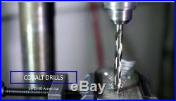Drill Bit Set Cobalt Reduced Shank Twist Stainless Steel Inconel Drilling 5-Pcs