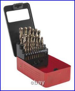 Drill Bit Set From Sealey Hss Cobalt Split Point Fully Ground 25pc Metric
