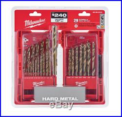 Drill Bit Set Twist Cobalt Variable Helix Heavy Duty Drilling Accurate Hole Tool