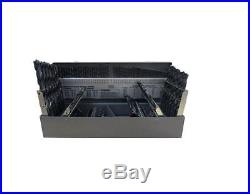 Drill Cobalt Bit Set Bits Jobber Shank 115 Piece Industrial Professional