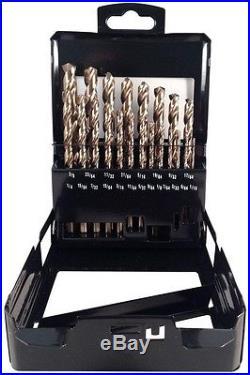Drill Cobalt Bit Set Bits M35 Square Shank 21-Piece Industrial Professional