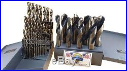 Drill Hog 37 Pc Cobalt Drill Bit Set Index M42 1/16 1 Lifetime Warranty USA