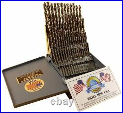 Drill Hog 60 Pc NUMBER Drill Bit Set Wire Gauge COBALT M42