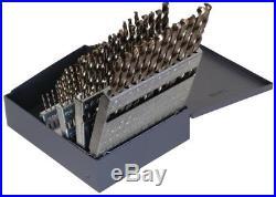 Drill Set Cobalt Heavy-Duty 135-degree Split Point #1 #60 Bit Set (60-Piece)