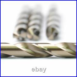 Drillforce 10PCS 11/32 Cobalt Drill Bit Set HSSCO M35 Jobber Metal Drill Bits