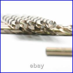 Drillforce 10PCS 15/32 Cobalt Drill Bit Set HSSCO M35 Jobber Metal Drill Bits