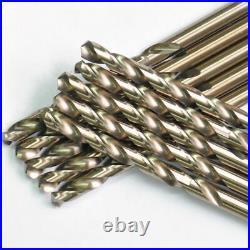 Drillforce 21PCS Drill Bit Set HSS M35 Cobalt Multi-Bits Metal Stainless Tools