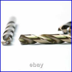 Drillforce 5PC 15/32 Cobalt Drill Bit Set HSS M35 Jobber Length Metal Drill Bit
