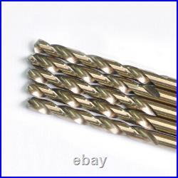 Drillforce 5PC 25/64 Cobalt Drill Bit Set HSS M35 Jobber Length Metal Drill Bit