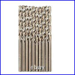 Drillpro 99pcs M35 Cobalt Drill Bit Set 1.5-10mm Hss-co Jobber Length Twist Dril