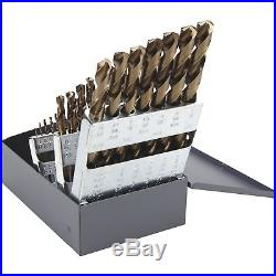 FREE SHIPPING Klutch Cobalt High Speed Steel Drill Bit Set 29-Pc