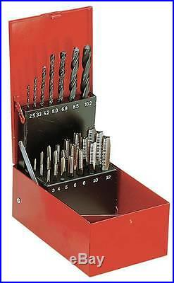 Facom 227. SJ2A Cobalt Tap and HSS Drill Bit Set. M3 M12