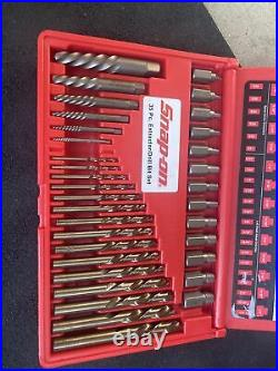 For SNAP-ON 35 Pc. Screw Extractor/LH Cobalt Drill Bit Set New Open Box