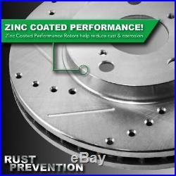 Front Ceramic Disc Brake Pad Performance Rotor & Hardware Kit for Chevy Pontiac