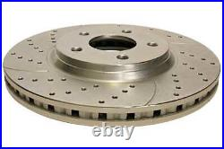 Front & Rear Performance Drilled Slotted Brake Rotors & Ceramic Pads Kit