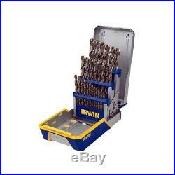 HANSON 3018002B- 29 Piece Cobalt M42 Metal Index Drill Bit Set NEW FREE SHIPPING