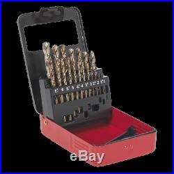 HSS Cobalt Split Point Fully Ground Drill Bit Set 25pc Metric SEALEY AK4702