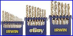 Hansen 3018002- 29-Piece Cobalt M-35 Metal Index Reduced Shank Drill Bit Set NEW