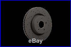 Hawk Talon 2009 Chevy Cobalt Rear Disc Drilled and Slotted Rear Brake Rotor Set