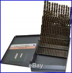 Hertel 135° Point, Bright Finish, Cobalt Jobber Length Drill Bit Set 60 P
