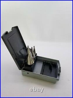 Hertel 1/8 to 3/4 118 deg Point, Cobalt Step Drill Bit Set 3 Piece set 43275056
