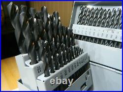Hertel Cobalt Screw Machine Length Drill Bit Set 1/16 to 1/2 135° Point 0757499