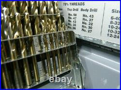 Hertel Screw Machine Length Drill Bit Set 1/16 to 1/2 135° 07574999 INCOMPLETE